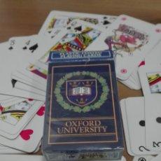 Barajas de cartas: BARAJA DE CARTAS PLASTIC COATED PLAYING CARDS OXFORD UNIVERSITY. Lote 182153403