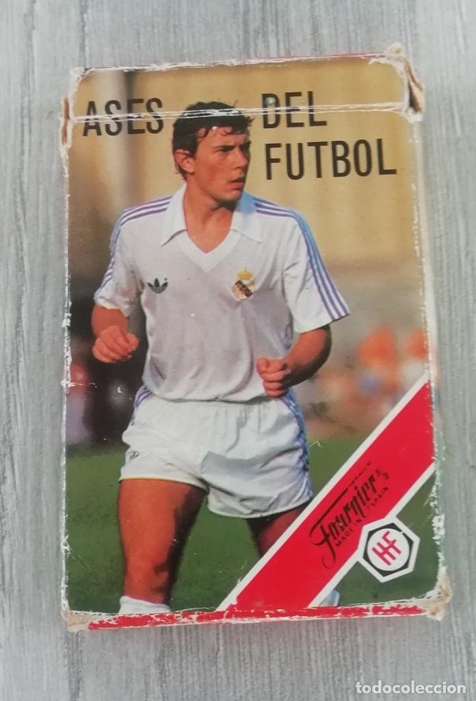 Barajas de cartas: Ases del futbol - Heraclio Fournier (completa) Baraja de cartas Ases del Fútbol Heraclio Fournier, d - Foto 2 - 182176262