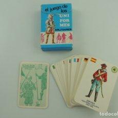 Barajas de cartas: BARAJA DE CARTAS JUEGO DE LOS UNIFORMES MILITARES. EDICIONES RECREATIVAS . Lote 182254127