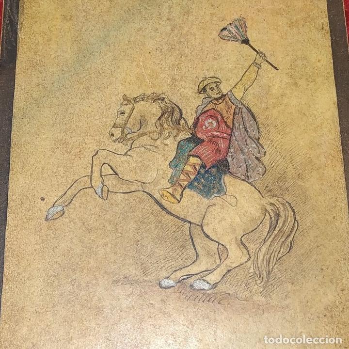 Barajas de cartas: 5 NAIPES UKIYO-E. PINTURA SOBRE CARTÓN. JAPÓN. SIGLO XIX - Foto 5 - 182265243