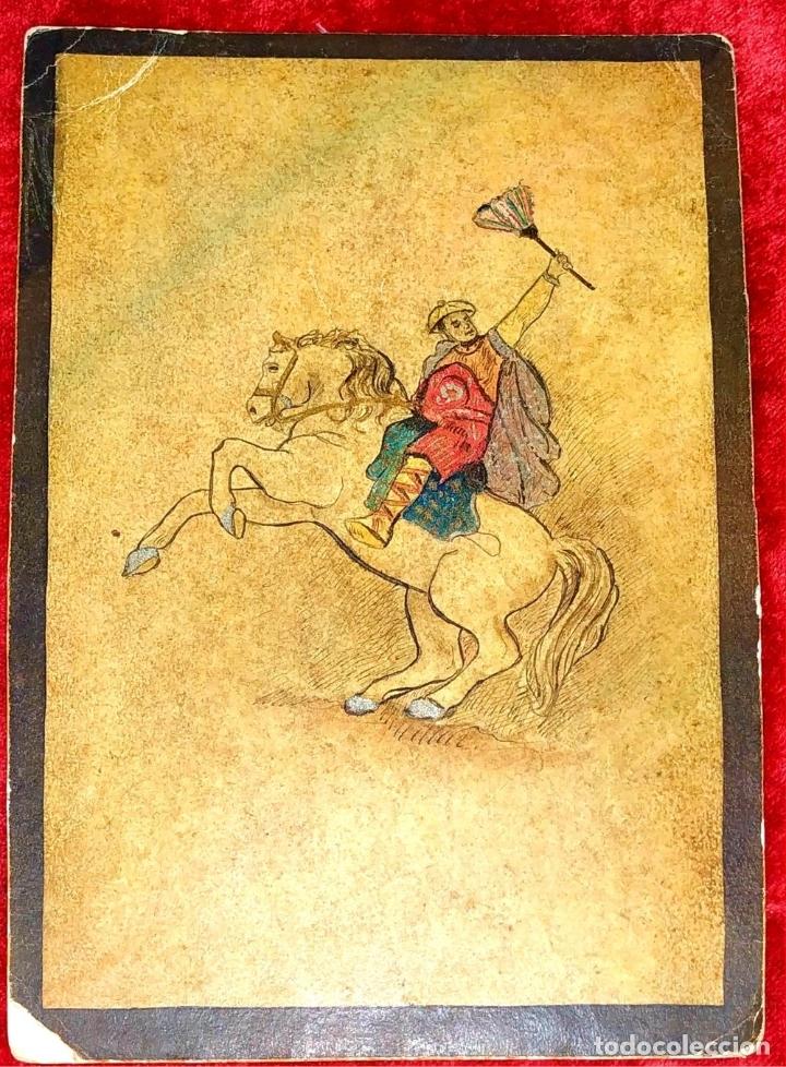 Barajas de cartas: 5 NAIPES UKIYO-E. PINTURA SOBRE CARTÓN. JAPÓN. SIGLO XIX - Foto 6 - 182265243