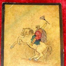 Barajas de cartas: 5 NAIPES UKIYO-E. PINTURA SOBRE CARTÓN. JAPÓN. SIGLO XIX. Lote 182265243