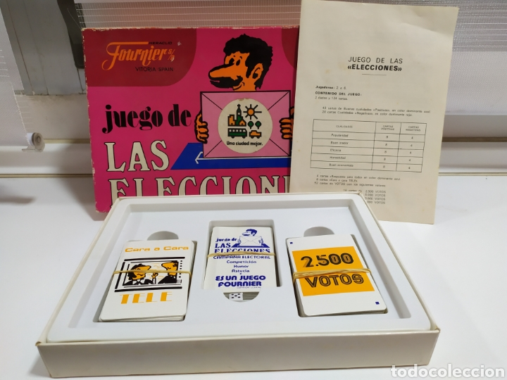 Barajas de cartas: JUEGO DE LAS ELECCIONES DE HERACLIO FOURNIER - Foto 2 - 182422075