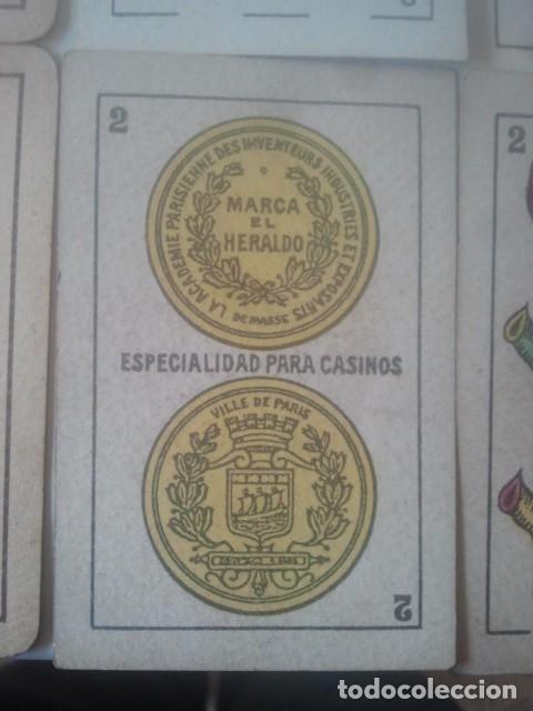 Barajas de cartas: NAIPES DE BARAJA - SEGUNDO DE OLEA - EL HERALDO - PARA CASINOS - Y OTRAS - LOTE DE ANTIGUAS CARTAS - Foto 3 - 182596070
