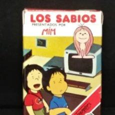 Barajas de cartas: BARAJA LOS SABIOS PRESENTADOS POR MIN- FOURNIER. Lote 182636452