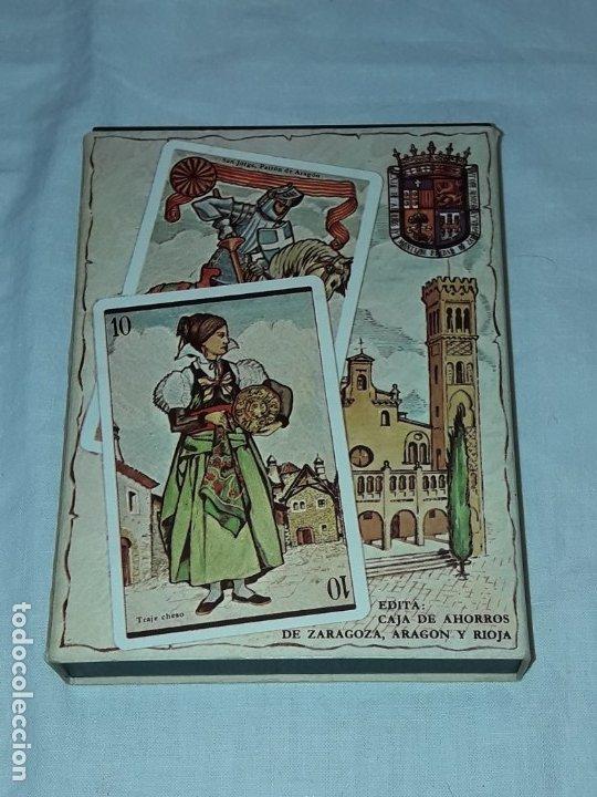 BARAJA ARAGONESA NUEVA DESCRIPTIVA DE TRAJES, ARQUITECTURA, MONEDAS Y ARTESANÍA (Juguetes y Juegos - Cartas y Naipes - Otras Barajas)