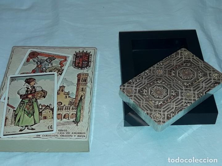 Barajas de cartas: Baraja Aragonesa nueva Descriptiva de trajes, arquitectura, monedas y artesanía - Foto 5 - 182694401