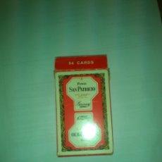 Barajas de cartas: BARAJA PRECINTADA HERACLIO FOURNIER BRIDGE POKER PUBLICIDAD FINO SAN PATRICIO. Lote 182860275
