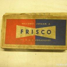Barajas de cartas: JUEGO DE CARTAS FRISCO. Lote 183346456