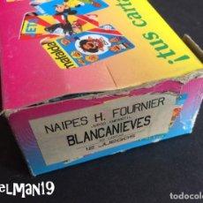 Barajas de cartas: NAIPES INFANTILES FOURNIER - CAJA ORIGINAL 12 JUEGOS BLANCANIEVES DE DISNEY- COMPLETA. Lote 183516416