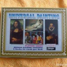 Barajas de cartas: BARAJAS NAIPES FOURNIER - LA PINTURA UNIVERSAL - PRECINTADA. Lote 183601425
