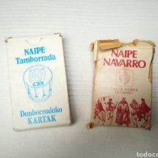 Barajas de cartas: NAIPES TAMBORRADA Y NAIPES NAVARROS. Lote 183616005