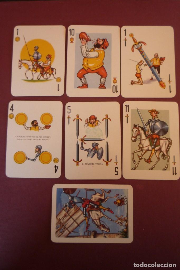 QUIJOTE. POKER ESPAÑOL CON ESTUCHE GRABADO. 40 CARTAS. H. FOURNIER-VITORIA. 1964. (Juguetes y Juegos - Cartas y Naipes - Barajas de Póker)