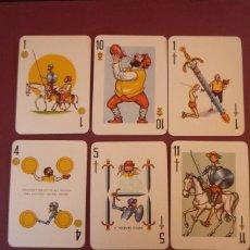 Barajas de cartas: QUIJOTE. POKER ESPAÑOL CON ESTUCHE GRABADO. 40 CARTAS. H. FOURNIER-VITORIA. 1964.. Lote 194607473