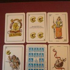 Barajas de cartas: IV CENTENARIO DE 'EL QUIJOTE'. 50 CARTAS. EDICIÓN DE 1000 EJEMPLARES POR ASSOCIACIÓ SANT LLUC.. Lote 183618391