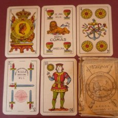 Barajas de cartas: NAIPES COMAS MARCA 'EL LEÓN'. 48 CARTAS+DOS COMODINES CORTINAS Nº 6. N.E.G.S.A.´BARCELONA. Lote 183622171