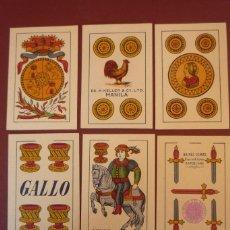 Barajas de cartas: BARAJA MARCA 'GALLO'. AÑO 1947. 40 CARTAS SIN NUMERAR. HIJA DE A. COMAS-BARCELONA PARA MANILA.. Lote 183623560