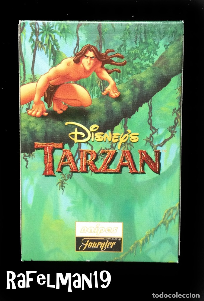 TARZAN - DISNEY - NAIPES INFANTILES FOURNIER - PRECINTADA ORIGINAL DE FABRICA (Juguetes y Juegos - Cartas y Naipes - Barajas Infantiles)