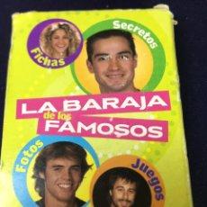 Barajas de cartas: LA BARAJA DE LOS FAMOSOS - SUPER POP . Lote 184258866