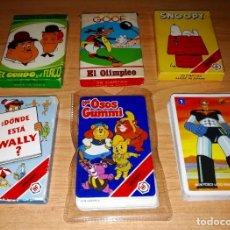 Barajas de cartas: LOTE BARAJAS INFANTILES FOURNIER (X6 MAZOS) --- LEER DESCRIPCIÓN --- BOX26. Lote 184343820