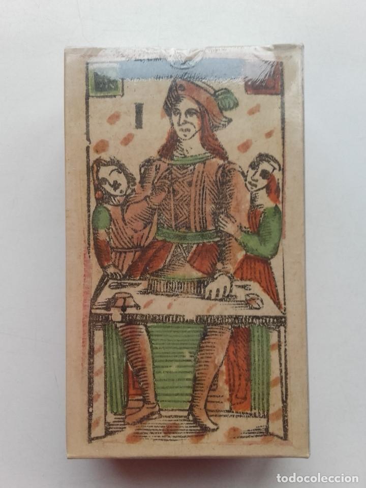 TAROT FLORENTINO MINCHIATE AL LEONE. ITALIA SIGLO XVIII, 1790 FASCIMIL - BARAJA NUEVA Y PRECINTADA (Juguetes y Juegos - Cartas y Naipes - Barajas Tarot)