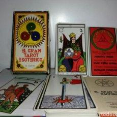 Barajas de cartas: EL GRAN TAROT ESOTÉRICO. COMPLETO. FOURNIER.. Lote 184460992