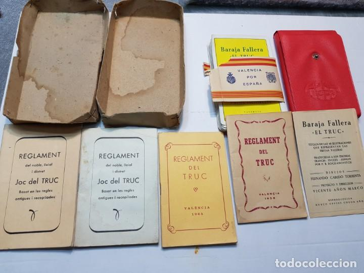 Barajas de cartas: Baraja fallera EL TRUC 1958 completa en caja original y varios reglamentos añadidos - Foto 8 - 184832926