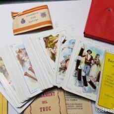 Barajas de cartas: BARAJA FALLERA EL TRUC 1958 COMPLETA EN CAJA ORIGINAL Y VARIOS REGLAMENTOS AÑADIDOS . Lote 184832926