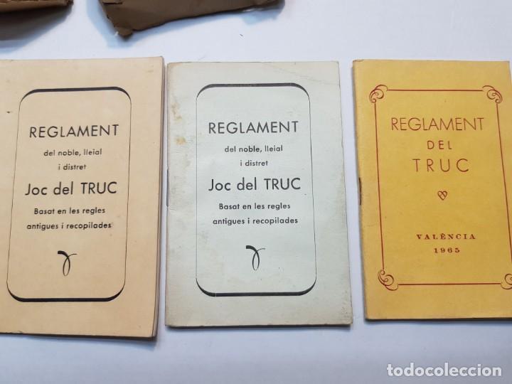 Barajas de cartas: Baraja fallera EL TRUC 1958 completa en caja original y varios reglamentos añadidos - Foto 4 - 184832926
