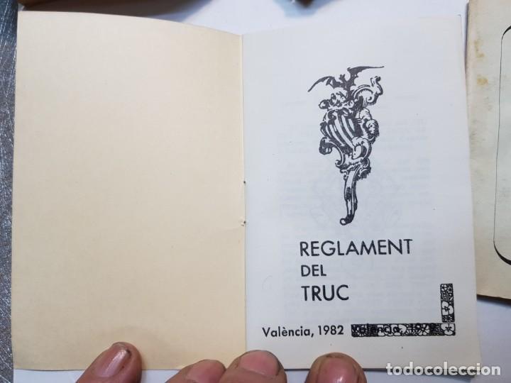 Barajas de cartas: Baraja fallera EL TRUC 1958 completa en caja original y varios reglamentos añadidos - Foto 7 - 184832926