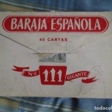 Barajas de cartas: BARAJA GIGANTE 111 FOURNIER. Lote 184833676