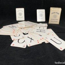Barajas de cartas: CARTAS JUEGO - CROSS MINO. Lote 185906032