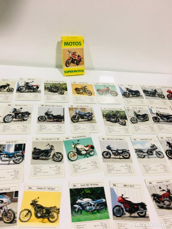 Barajas de cartas: Juego antiguo de cartas Motos Supermotos de heraclio, baraja infantil, baraja - Foto 15 - 185935335