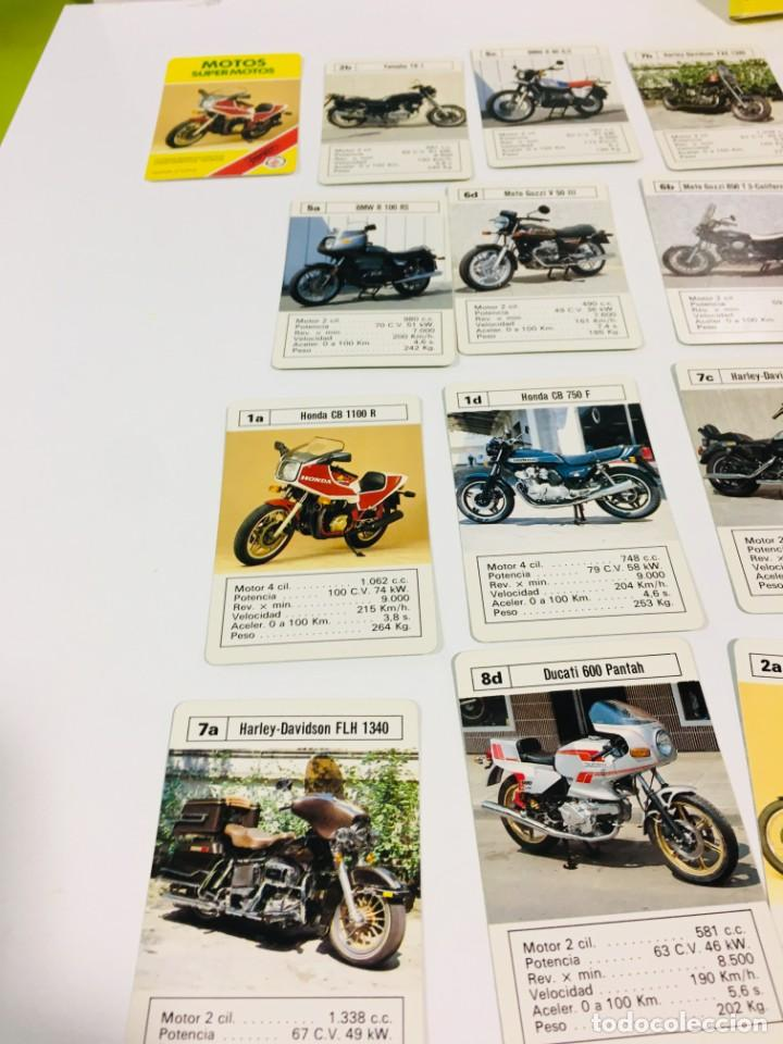 Barajas de cartas: Juego antiguo de cartas Motos Supermotos de heraclio, baraja infantil, baraja - Foto 25 - 185935335