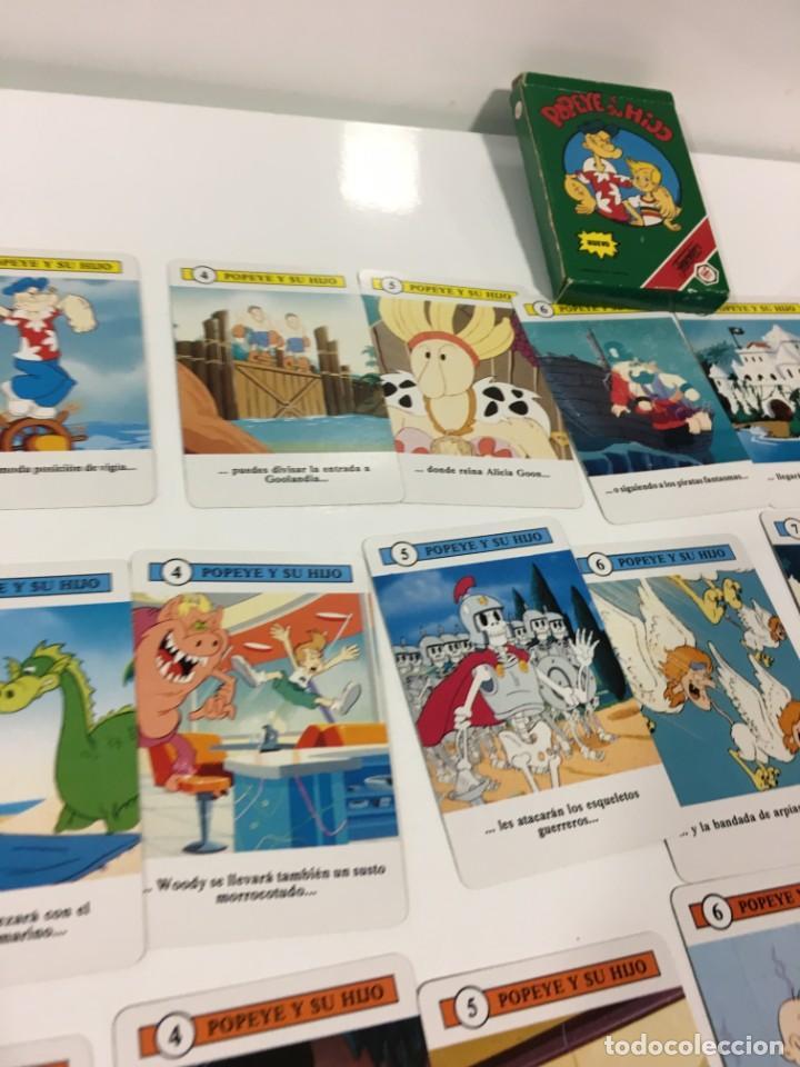 Barajas de cartas: Juego antiguo de cartas de Popeye e hijo de heraclio Fournier,feber,Juego infantil, baraja infantil, - Foto 16 - 185935676