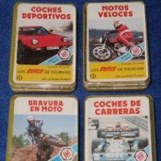 Jeux de cartes: LOS MINIS DE FOURNIER Nº 1,2,3 Y 4 - COCHES - MOTOS - FOURNIER. Lote 186017166