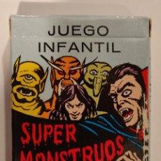 Barajas de cartas: BARAJA INFANTIL SUPER MONSTRUOS. Lote 186085935