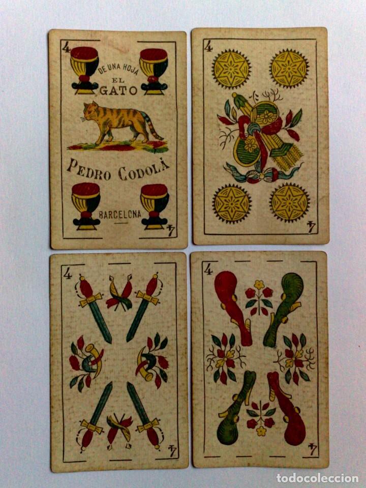 ANTIGUA BARAJA 48 CARTAS DE UNA HOJA -EL GATO- PEDRO CODOLÀ,BARCELONA (Juguetes y Juegos - Cartas y Naipes - Baraja Española)