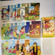 Barajas de cartas: BARAJA HEIDI LAS 4 ESTACIONES 1975 FOURNIER . COMPLETA .. Lote 186329655