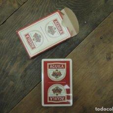 Barajas de cartas: BARAJA DE CARTAS ESPAÑOLA (50 NAIPES), HERACLIO FOURNIER, CERVEZAS EL ÁGUILA, DÉCADA 1990. Lote 186346228