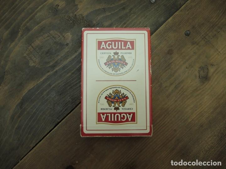 Barajas de cartas: BARAJA DE CARTAS ESPAÑOLA (50 NAIPES), HERACLIO FOURNIER, CERVEZAS EL ÁGUILA, DÉCADA 1990 - Foto 2 - 186346228