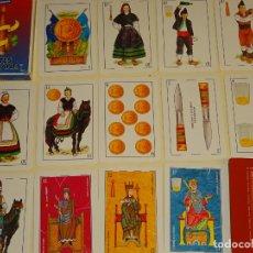 Barajas de cartas: BARAJA DE CARTAS ESPAÑOLA. CARTES ASTURIANAS. CURIOSOS NAIPES ASTURIAS. TIPISMO ASTURIANO. 90 GR. Lote 186359988
