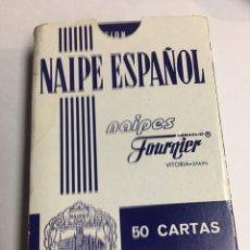 Barajas de cartas: NAIPE ESPAÑOL FOURNIER - FIBRA MARFIL - 50 CARTAS IBUPROFENO NORMON - NUEVAS . Lote 186627248