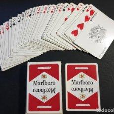 Barajas de cartas: BARAJA POKER DE PUBLICIDAD MARLBORO AÑOS 70. NAIPES PERFECTOS, ALGUNA MARCA EN LA CAJA - MARLBORO. Lote 187116322