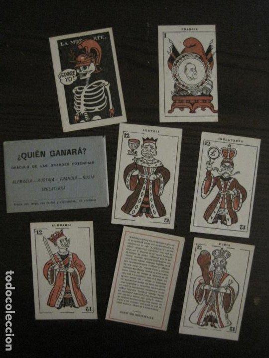 Barajas de cartas: GUERRA EUROPEA-¿QUIEN GANARA?-BARAJA DE 6 CARTAS Y 1 DE EXPLICACION-VER FOTOS-(V-18.609) - Foto 2 - 187212698