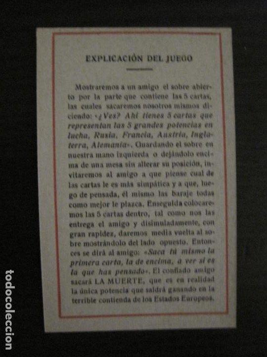 Barajas de cartas: GUERRA EUROPEA-¿QUIEN GANARA?-BARAJA DE 6 CARTAS Y 1 DE EXPLICACION-VER FOTOS-(V-18.609) - Foto 15 - 187212698