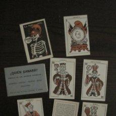 Barajas de cartas: GUERRA EUROPEA-¿QUIEN GANARA?-BARAJA DE 6 CARTAS Y 1 DE EXPLICACION-VER FOTOS-(V-18.609). Lote 187212698