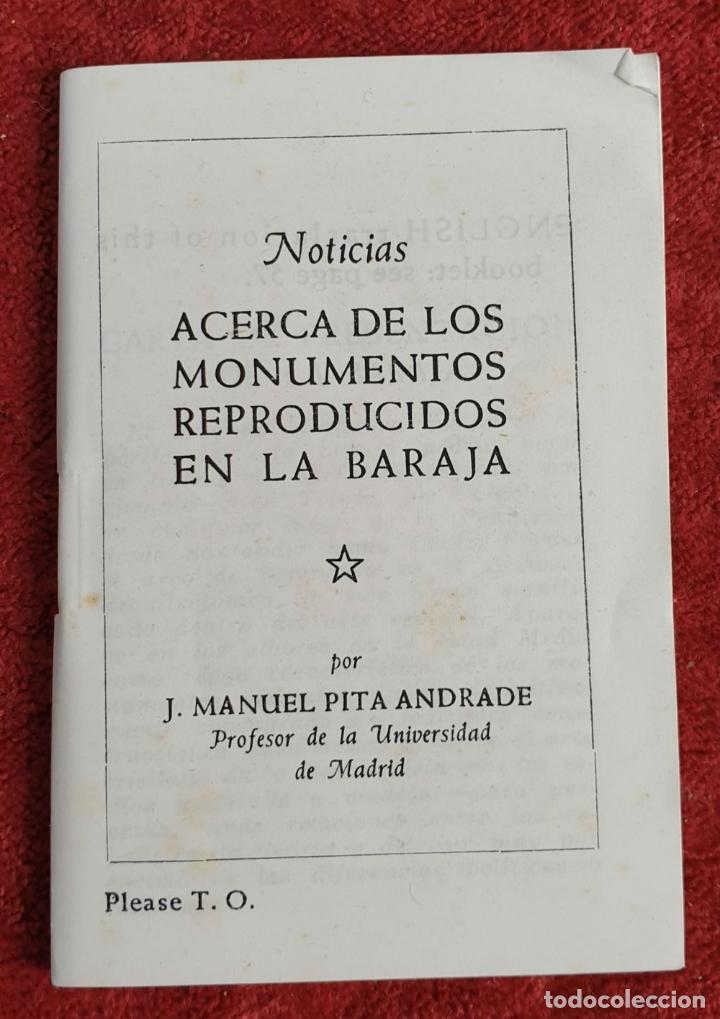 Barajas de cartas: PAREJA DE JUEGO DE CARTAS. MONUMENTOS DE ESPAÑA. HERACLIO FOURNIER. 1959. - Foto 2 - 187289310