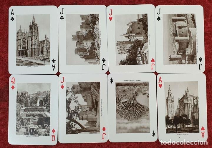Barajas de cartas: PAREJA DE JUEGO DE CARTAS. MONUMENTOS DE ESPAÑA. HERACLIO FOURNIER. 1959. - Foto 4 - 187289310