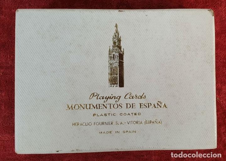 Barajas de cartas: PAREJA DE JUEGO DE CARTAS. MONUMENTOS DE ESPAÑA. HERACLIO FOURNIER. 1959. - Foto 5 - 187289310